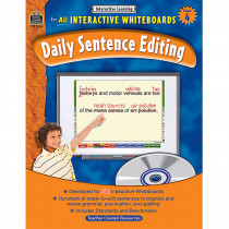 TCR3886 - Interactive Learning Gr 4 Daily Sentence Editing Bk W/Cd in Language Arts