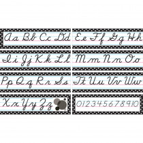 TCR4099 - Cursive Mini Bulletin Board Set in Alphabet Lines