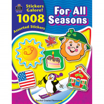 TCR4224 - For All Seasons Sticker Book 1008Pk in Holiday/seasonal