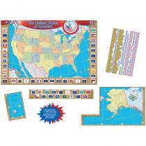 TCR4403 - Us Map Bulletin Board Set 36X24 in Social Studies