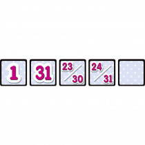 TCR4584 - Black Polka Dots Calendar Day Mini Packs in Calendars