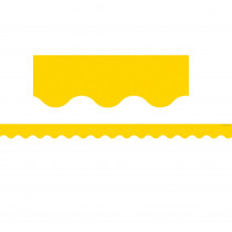 TCR4599 - Yellow Gold Scalloped Border Trim in Border/trimmer
