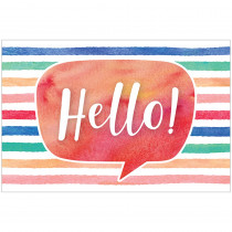 TCR4764 - Watercolor Hello Postcards in Postcards & Pads