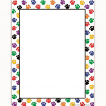 TCR4769 - Colorful Paw Prints Computer Paper in Design Paper/computer Paper