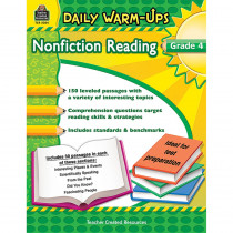 TCR5034 - Daily Warm Ups Gr 4 Nonfiction Reading in Reading Skills