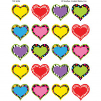 TCR5185 - Fancy Hearts Stickers in Holiday/seasonal