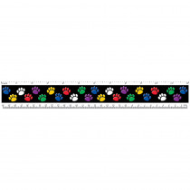 TCR5229 - Rulers Colorful Paw Prints in Rulers
