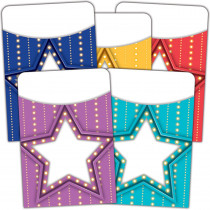 TCR5481 - Marquee Library Pockets Mutil Pack in Library Cards