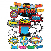 TCR5568 - Superhero Bulletin Board Set in Classroom Theme