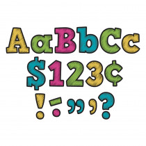 TCR5617 - Chalkboard Brights Bold Block 4In Letters Combo Pack in Letters