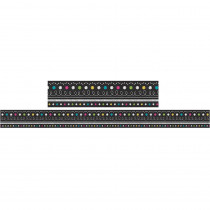 TCR5619 - Chalkboard Brights Straight Border Trim in Border/trimmer