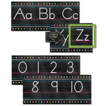 TCR5621 - Chalkboard Brights Alphabet Line Bulletin Board Set in Language Arts