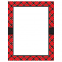 TCR5695 - Red Plaid Computer Paper in Design Paper/computer Paper