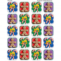 TCR5745 - Candy Canes/Gingerbread 120 Sticker in Holiday/seasonal