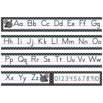 TCR5788 - Black Polka Dots Traditional Printing Mini Bulletin Board Set in Language Arts