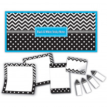 TCR5834 - Black & White Sticky Notes in Post It & Self-stick Notes