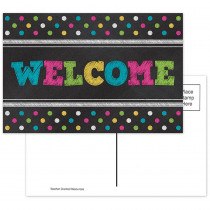 TCR5838 - Chalkboard Brights Welcome Postcards in Postcards & Pads