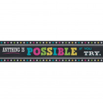 TCR5840 - Chalkboard Brights Anything Is Possible Banner in Banners