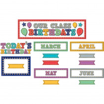 TCR5892 - Marquee Our Class Birthdays Mini Bulletin Board in Classroom Theme