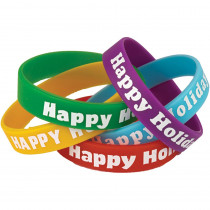 TCR6016 - Happy Holidays Wristbands in Novelty