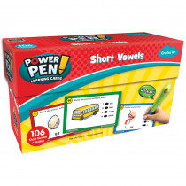 TCR6101 - Power Pen Learning Cards Short Vowels in Grammar Skills