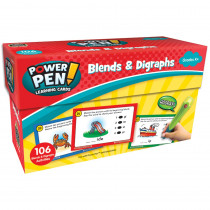 TCR6104 - Power Pen Learning Cards Blends And Digraphs in Grammar Skills