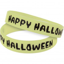 TCR6119 - Happy Halloween Glow In The Dark Wristbands in Novelty