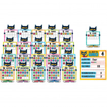 TCR62005 - Pete The Cat Numbers 0 To 20 Bulletin Board Set in Classroom Theme