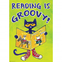 TCR63929 - Pete The Cat Read Is Groovy Poster Positive in Inspirational