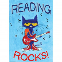 TCR63930 - Pete The Cat Reading Rocks Poster Positive in Inspirational