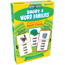 TCR6557 - Vowels Short A Word Families Slide & Learn Flash Cards in Phonics