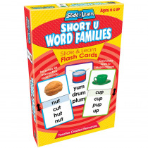TCR6562 - Vowels Short U Word Families Slide & Learn Flash Cards in Phonics