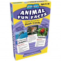 TCR6563 - Animal Fun Facts Slide & Learn Flash Cards in Animal Studies