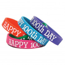 TCR6568 - Happy 100Th Day Wristbands in Novelty