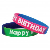 TCR6571 - Fancy Happy Birthday Wristbands in Novelty
