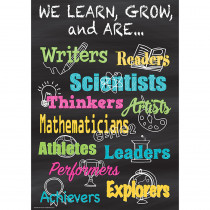TCR7404 - We Learn Grow & Are Positive Poster in Inspirational