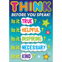 TCR7408 - Before You Speak Positive Poster in Inspirational