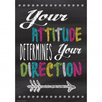 TCR7409 - Your Attitude Positive Poster in Inspirational