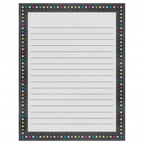 TCR7532 - Chalkboard Brights Lined Chart in Classroom Theme