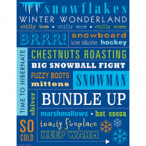 TCR7535 - Winter Subway Art Chart in Classroom Theme