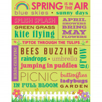TCR7536 - Spring Subway Art Chart in Classroom Theme
