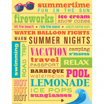 TCR7537 - Summer Subway Art Chart in Classroom Theme