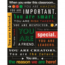 TCR7545 - When You Enter This Classroom Subway Art Chart in Classroom Theme