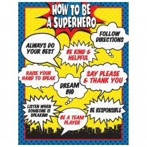 TCR7550 - How To Be A Superhero Chart in Classroom Theme