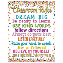 TCR7553 - Confetti Classroom Rules Chart in Classroom Theme
