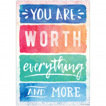 TCR7560 - You Are Worth Everything More Chart in Motivational