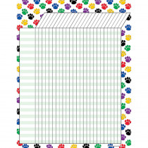 TCR7622 - Colorful Paw Prints Incentive Chart 17 X 22 in Incentive Charts