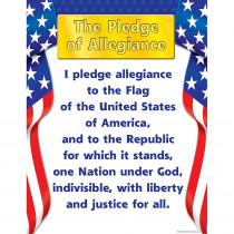 TCR7631 - Pledge Of Allegiance Chart 17X22 in Social Studies