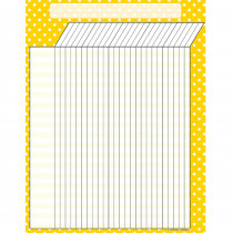TCR7659 - Yellow Polka Dots Incentive Chart in Incentive Charts