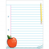 TCR7683 - Notepad Paper Chart in Classroom Theme